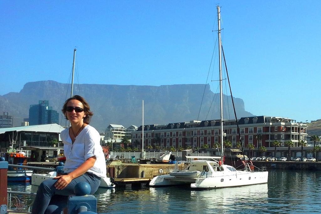 Magda Jongen-Chęciek w czasie podróży służbowej w Kapsztadzie w październiku 2015
